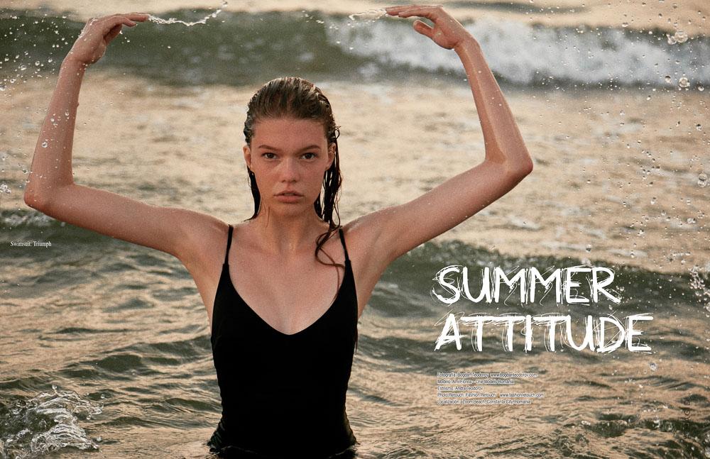 Cauti un Fotograf Profesionist pentru o Sedinta foto pe Plaja? Contacteaza-ne. Fotografie Fashion Editorial Hacid Magazine Realizat Plaja Constanta