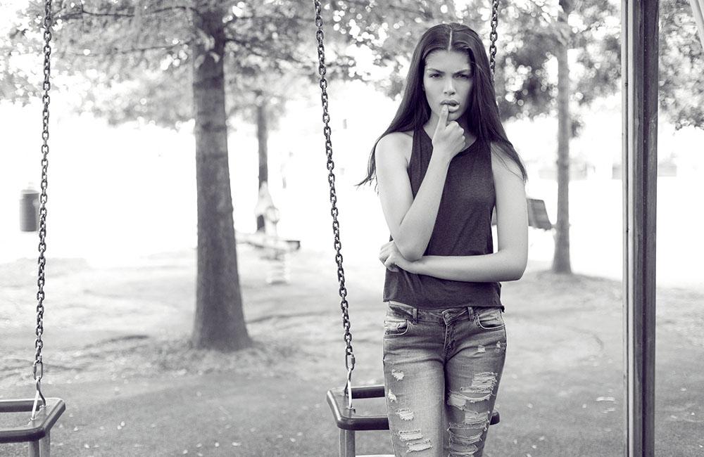 Model Test brazilianca Eduarda Women Direct Milano, fotograf de moda