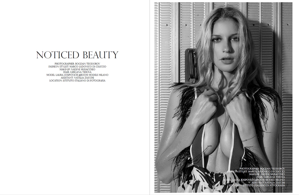 Fotografie glamour editorial Promo Magazine, fotograf de moda