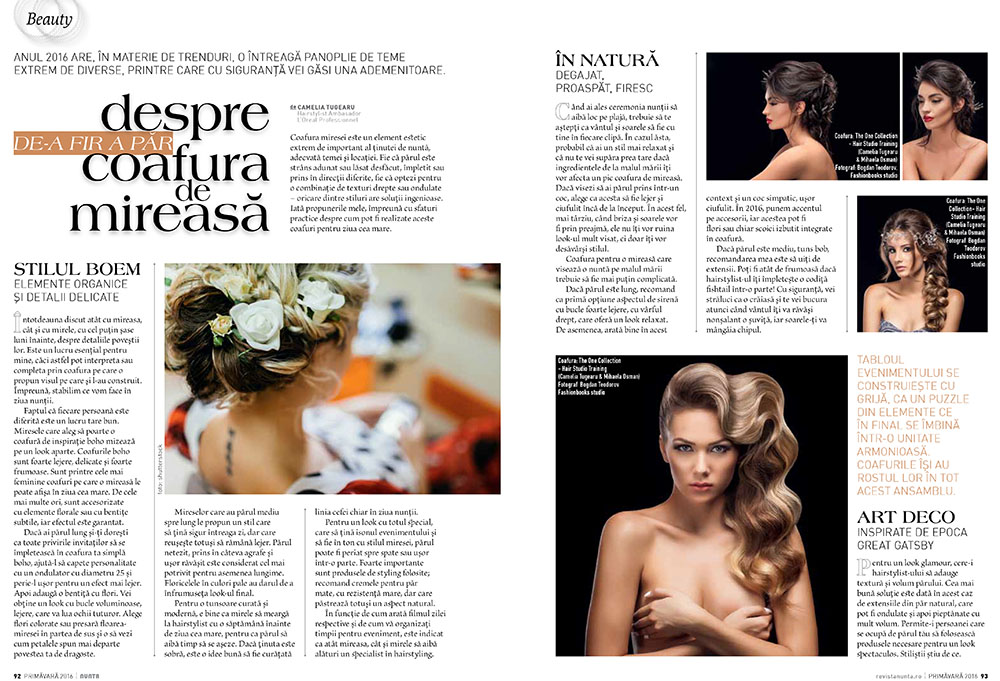 Revista Nunta by Carmen Ionita sedinta foto studio Constanta Bucuresti Fotograf fashion moda coafura makeup lookbook beauty makeup hair style