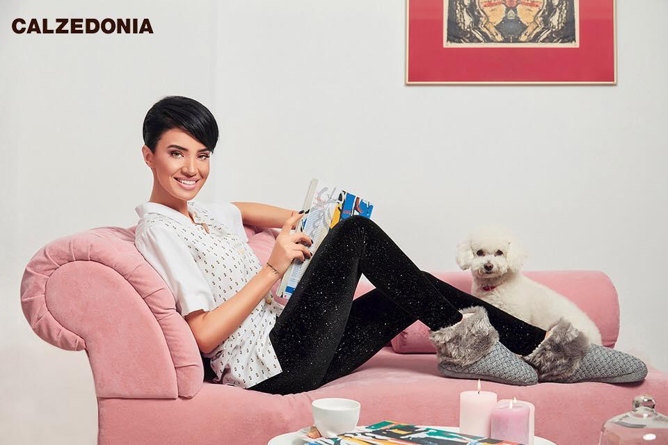 Adelina Pestritu sedinta foto Calzedonia Intimissimi
