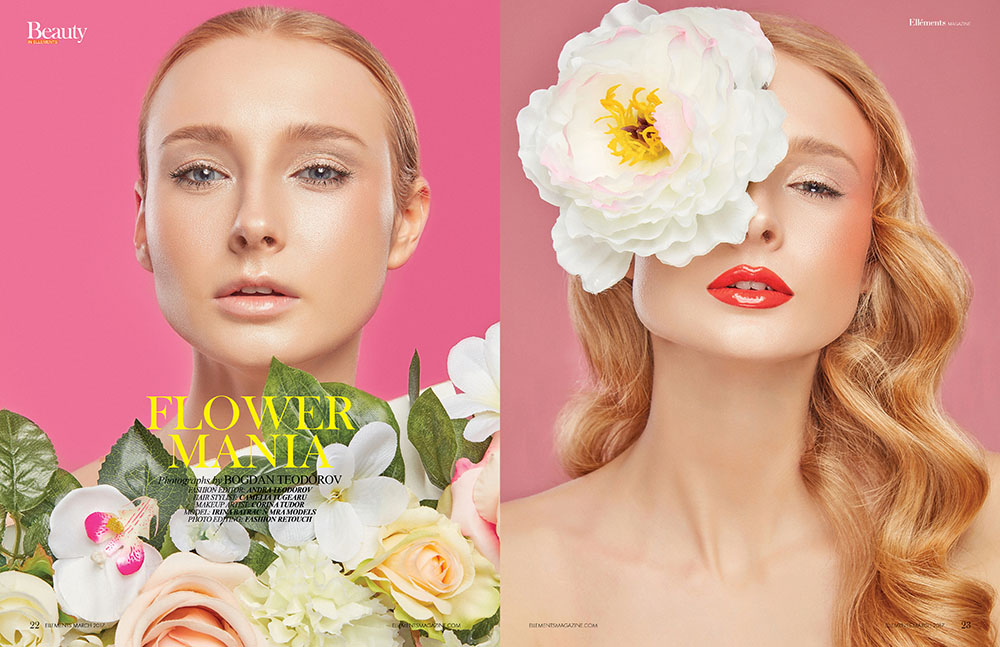 Fotografie makeup beauty editorial revista Ellements NY