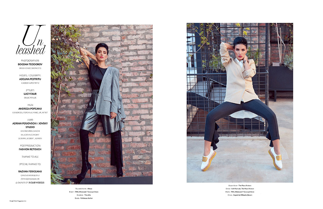 Adelina Pestritu editorial fashion Trend Prive Magazine